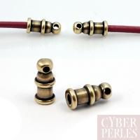 Embout fin de corde - bronze antique