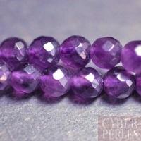 Perle en améthyste facettée grade A - 8 mm