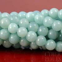 Perles rondes en amazonite 6 mm