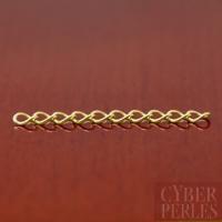 Chainette d'extension 3 cm en vermeil