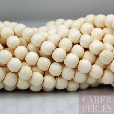 perles en bois 8 mm blanc ivoire wp211 cyberperles. Black Bedroom Furniture Sets. Home Design Ideas