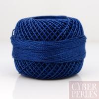 Coton perlé taille 8 bleu marine - 80 m