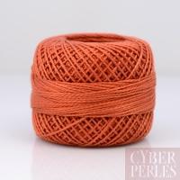 Coton perlé taille 8 - orange sienne - 80 m