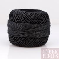 Coton perlé taille 8 - noir - 80 m
