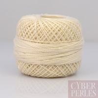 Coton perlé taille 8 - écru - 80 m