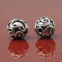 Perle de Bali ouvragée en argent 925