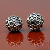 Perle de Bali ronde en argent 925