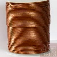 Lacet de cuir - bronze métallisé