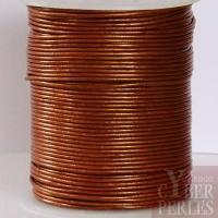 Lacet de cuir - cuivre métallisé