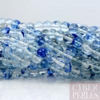Perle en quartz rutile bleu 10 mm