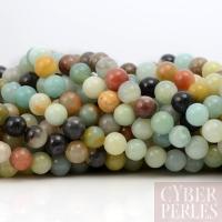 Perles en amazonite arc en ciel 8,5 mm