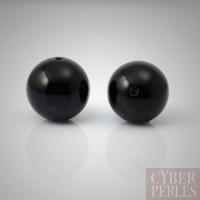 Perle ronde en onyx noir 20 mm