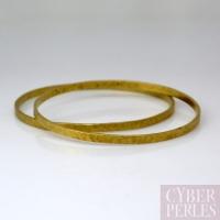 Bracelet rigide martelé en laiton - M