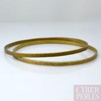 Bracelet rigide martelé en laiton - L