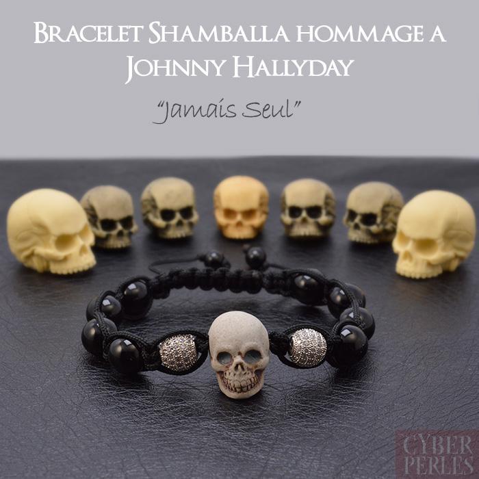 Bracelet hommage à Johnny Hallyday , Jamais seul