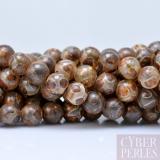 Perle style tibétain en agate - 8 mm