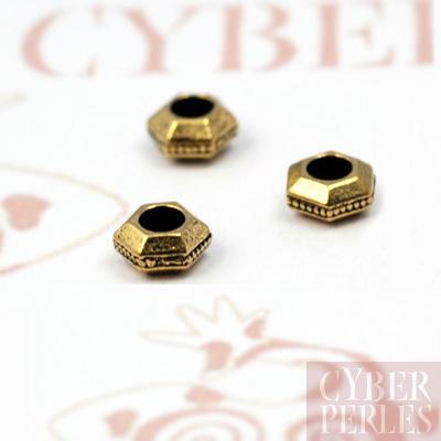 Perles intercalaires dorees forme ecrou
