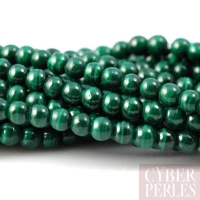 Perles rondes en malachite - 4 mm