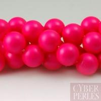 Perle Swarovski nacrée 5810 - Crystal Neon pink 8 mm