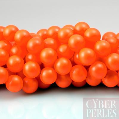 Perle Swarovski nacree 5810 - Crystal Neon Orange 8 mm